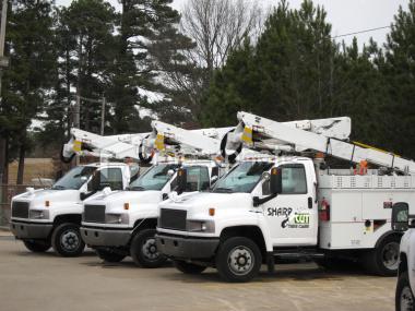 sharpcut treecare trucks